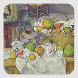 Still life with basket, 1888-90 square sticker