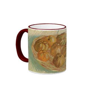 Still Life with Basket of Apples by van Gogh Ringer Mug