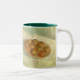 Still Life with Basket of Apples by van Gogh Two-Tone Mug