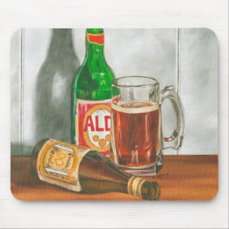 Still Life with Beer by Jennifer Goldberger Mouse Pads