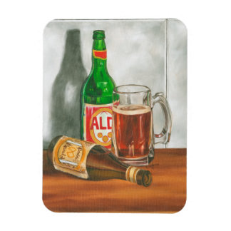 Still Life with Beer by Jennifer Goldberger Rectangular Photo Magnet