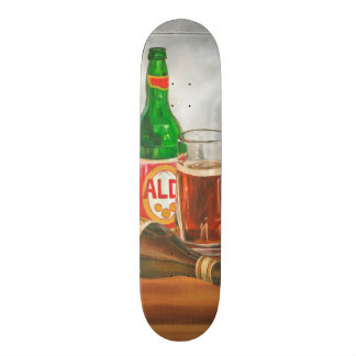 Still Life with Beer by Jennifer Goldberger Skateboards