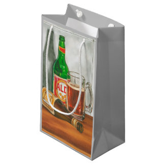 Still Life with Beer by Jennifer Goldberger Small Gift Bag