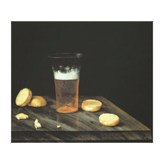 Still life with Beer Glass Canvas Print