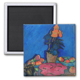 Still Life with Begonia, 1911 Square Magnet