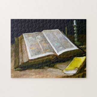 Still Life with Bible by Vincent Van Gogh Jigsaw Puzzle