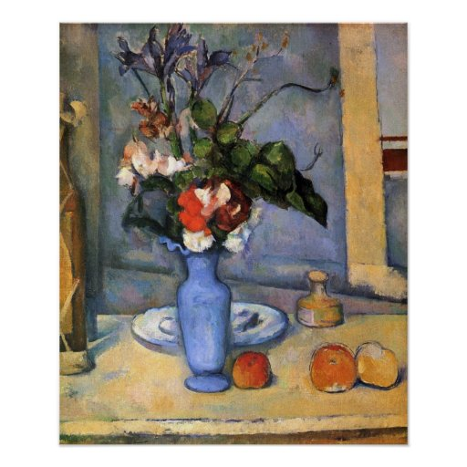 Still Life with Blue vase by Paul Cezanne