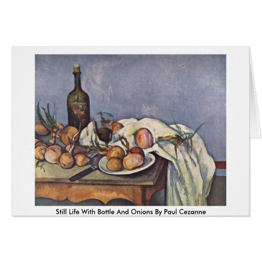 Still Life With Bottle And Onions By Paul