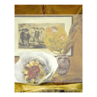 Still Life with Bouquet by Pierre-Auguste Renoir Flyer Design