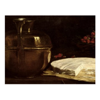 Still Life with Brie, 1863 Postcard