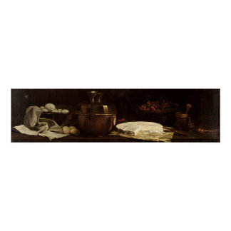 Still Life with Brie, 1863 Poster
