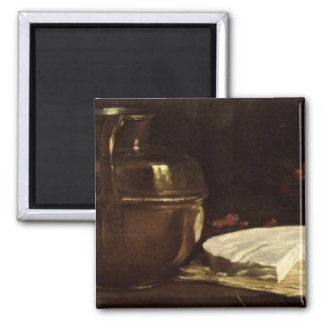 Still Life with Brie, 1863 Square Magnet