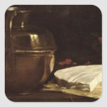 Still Life with Brie, 1863 Square Sticker