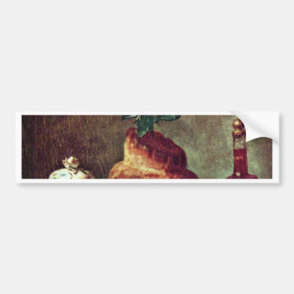 Still Life With Brioche By Chardin Jean-Baptiste S Bumper Sticker