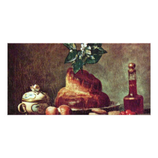 Still Life With Brioche By Chardin Jean-Baptiste S Personalized Photo Card