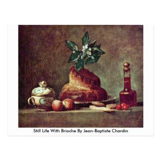 Still Life With Brioche By Jean-Baptiste Chardin Postcard