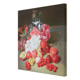 Still Life with Butterflies Canvas Print