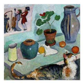 Still Life with Cat by August Macke Poster