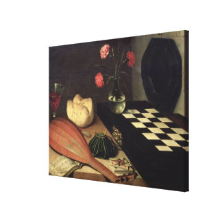 Still Life with Chess-board, 1630 Canvas Print