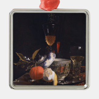 Still Life with Chinese Sugar Jar Silver-Colored Square Decoration