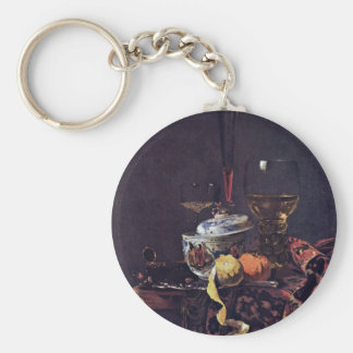 Still Life With Chinese Tureen By Kalf Willem Keychains