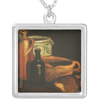 Still Life with Clogs and Pots, Van Gogh Silver Plated Necklace