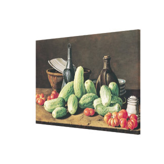 Still Life with Cucumbers and Tomatoes Canvas Print