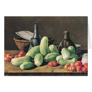 Still Life with Cucumbers and Tomatoes Card
