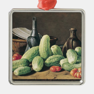 Still Life with Cucumbers and Tomatoes Christmas Ornament