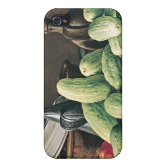 Still Life with Cucumbers and Tomatoes iPhone 4/4S Covers
