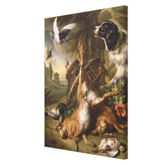 Still Life with Dead Game and Hares Canvas Print