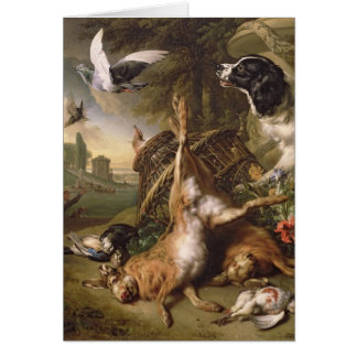 Still Life with Dead Game and Hares Greeting Card