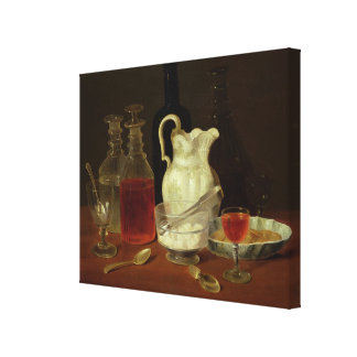 Still Life with Decanters Stretched Canvas Print