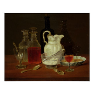 Still Life with Decanters Poster