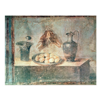 Still life with eggs and thrushes post card