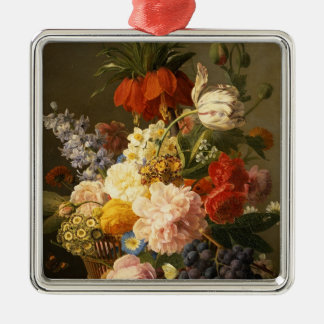 Still Life with Flowers and Fruit, 1827 Christmas Ornament