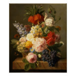 Still Life with Flowers and Fruit, 1827 Poster