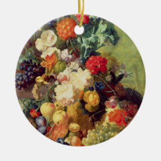 Still Life with Flowers and Fruit Christmas Ornament