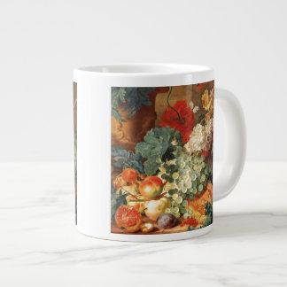 Still life with flowers and fruit jumbo mug