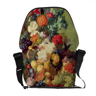 Still Life with Flowers and Fruit Messenger Bag
