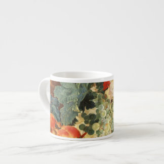 Still life with flowers and fruit espresso mug