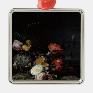 Still Life with Flowers and Insects Christmas Ornament