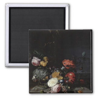 Still Life with Flowers and Insects Fridge Magnet