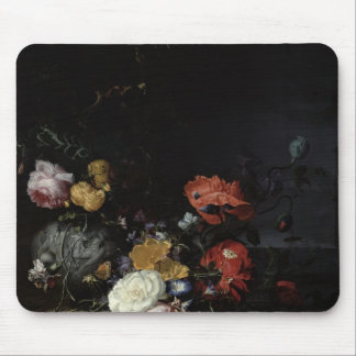 Still Life with Flowers and Insects Mouse Mat