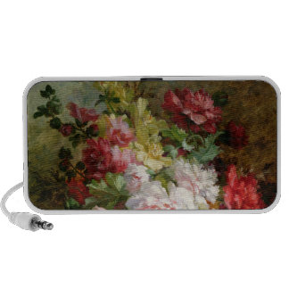 Still life with flowers and sheet music portable speaker
