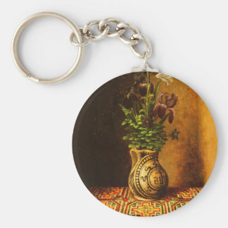 Still life with Flowers by Hans Memling Keychains