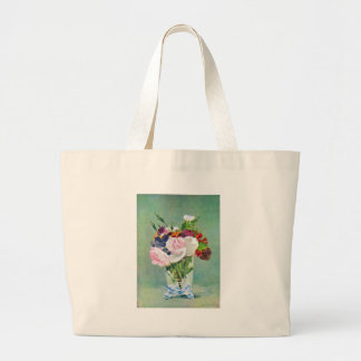 Still Life With Flowers by Manet Canvas Bag
