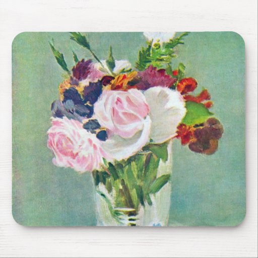 Still Life With Flowers by Manet Mouse Pads