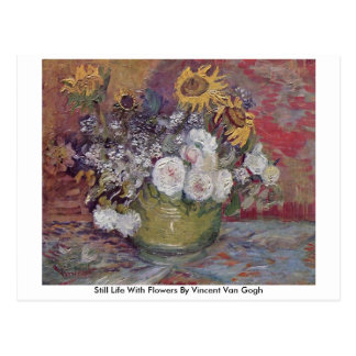 Still Life With Flowers By Vincent Van Gogh Postcard