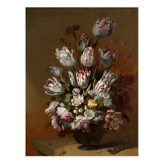 Still Life with Flowers Hans Bollongier Fine Art Postcard